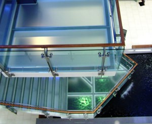 Glass Railings & Stairs at New England Tech
